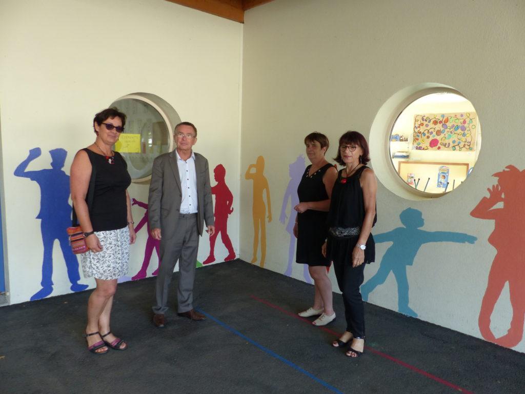 Inauguration fresque Ecole des Glycines