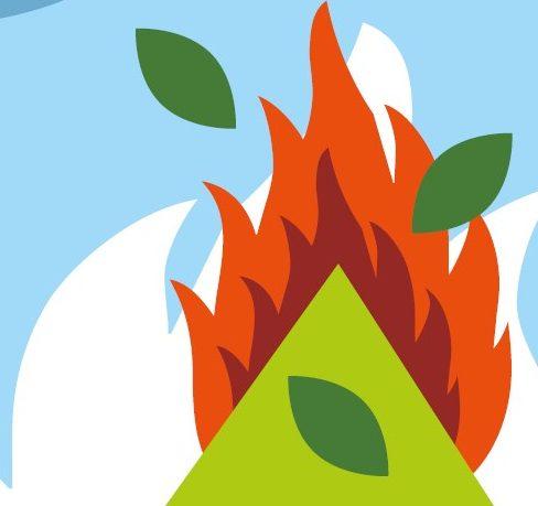 Brûlage des déchets végétaux