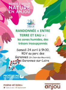"""ANNULÉ // Randonnée """"entre terre et eau"""" RDV NATURE EN ANJOU @ parc des Garennes"""